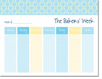 iDesign Weekly Calendar Pads - Chain Link Turquoise