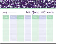 iDesign Weekly Calendar Pads - Bursts Plum