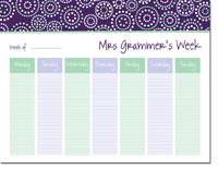 iDesign Weekly Calendar Pads - Bursts Plum (ID_WEEKLYPAD_11_PLUM)