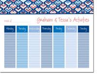 iDesign Weekly Calendar Pads - Genie Coral (ID_WEEKLYPAD_13_CORAL)