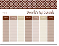 iDesign Weekly Calendar Pads - Bristol Tile Chocolate