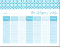 iDesign Weekly Calendar Pads - Bristol Tile Turquoise