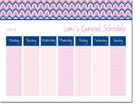 iDesign Weekly Calendar Pads - Bargello Pink