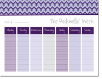 iDesign Weekly Calendar Pads - Bargello Purple