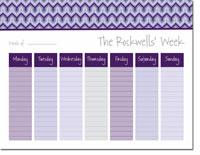 iDesign Weekly Calendar Pads - Bargello Purple