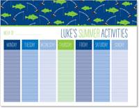 iDesign Weekly Calendar Pads - Summer Activities (Boy)