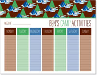 iDesign Weekly Calendar Pads - Camp Activities (Boy)