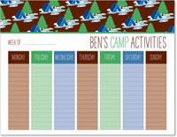 iDesign Weekly Calendar Pads - Camp Activities (Boy)