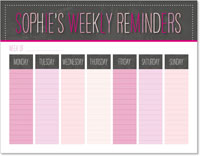 iDesign Weekly Calendar Pads - Weekly Reminders (Girl)