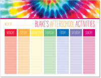 iDesign Weekly Calendar Pads - Afterschool Activities