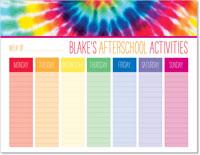 iDesign Weekly Calendar Pads - Afterschool Activities