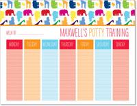 iDesign Weekly Calendar Pads - Potty Training (Boy)