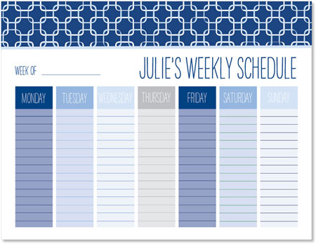 Weekly Calendar Pads by idesign + co - Links