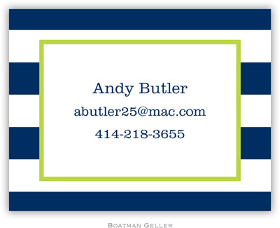 Boatman Geller - Create-Your-Own Calling Cards (Awning Stripe)