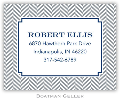 Boatman Geller - Create-Your-Own Calling Cards (Herringbone)