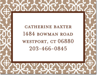 Boatman Geller - Create-Your-Own Calling Cards (Wrought Iron)