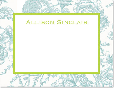 Boatman Geller - Create-Your-Own Calling Cards (Floral Toile)