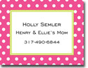 Boatman Geller Calling Cards - Dot Dark Pink Calling Card