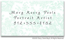 Stacy Claire Boyd Calling Cards - Small Summerland Toile - Blue
