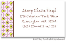 Stacy Claire Boyd Calling Cards - Small Floral Mosaic - Pink