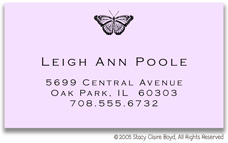 Stacy Claire Boyd Calling Cards - Small Butterfly Inspiration