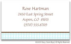 Stacy Claire Boyd Calling Cards - Small Pastel Houndstooth