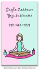 Stacy Claire Boyd Calling Cards - Small Yoga Girl