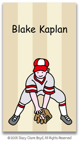 Stacy Claire Boyd Calling Cards - Small Baseball All-Star