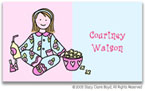 Stacy Claire Boyd Calling Cards - Small PJ Party