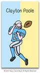 Stacy Claire Boyd Calling Cards - Small Football All-Star