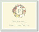 Stacy Claire Boyd Calling Cards - Floral Wreath