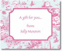 Stacy Claire Boyd Calling Cards - Fuchsia Toile