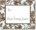 Stacy Claire Boyd Calling Cards - Baby Blue Botanical