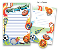 Bonnie Marcus Collection - Camp Seal-N-Send Stationery (Airbrush Sports)