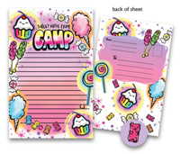 Bonnie Marcus Collection - Camp Seal-N-Send Stationery (Airbrush Sweets)