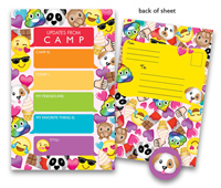 Bonnie Marcus Collection - Camp Seal-N-Send Stationery (Emoji Girl)