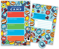 Bonnie Marcus Collection - Camp Seal-N-Send Stationery (Boy Icon)