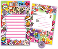 Bonnie Marcus Collection - Camp Seal-N-Send Stationery (Glitter Camp)