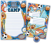 Bonnie Marcus Collection - Camp Seal-N-Send Stationery (Sports Camp)