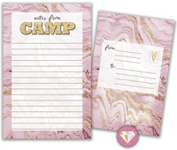Bonnie Marcus Collection - Camp Seal-N-Send Stationery (Marble Gold)