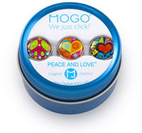 MOGO Magnet Charms - Peace And Love