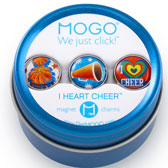 MOGO Magnet Charms - I Heart Cheer
