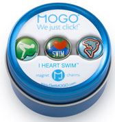MOGO Magnet Charms - I Heart Swim