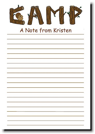 Kamp Kids Camp Stationery - A Note From Camp