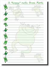 Paper People Camp Stationery - Frogs