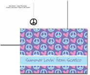 iDesign Postcards - Hearts & Peace (Camp)