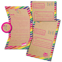 Camp Seal-N-Send Stationery - Airmail Rainbow