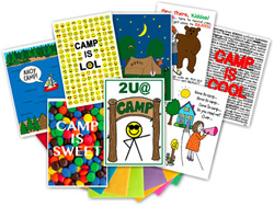 Kamp Kids Camp Greeting Card Packs - KA3