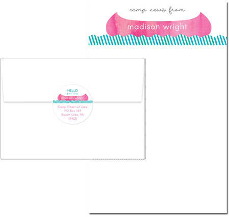 Camp Notepad Sets by Piper Fish Designs (Camp Canoe Pink)