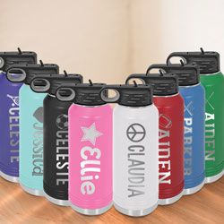 Custom Engraved Camp 32 oz. Water Bottle by Three Designing Women